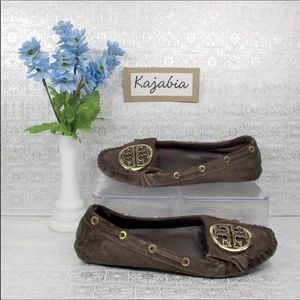TORY BURCH Brown Moccasins Size 7.5